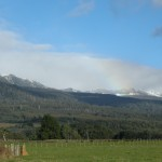 Spring snow showers, Mole Creek valley